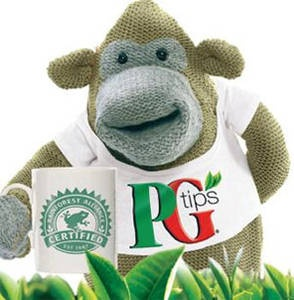 "PG Tips. English tea. Makes a good, strong ""cuppa."" Available in green or regular..."