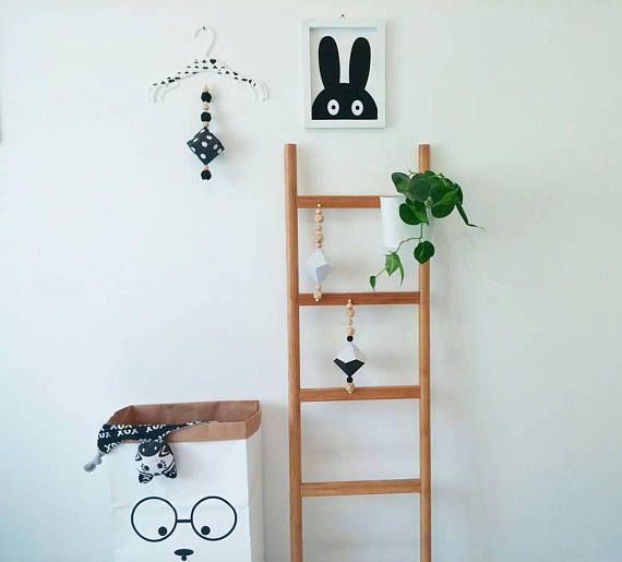Hey, I found this really awesome Etsy listing at https://www.etsy.com/il-en/listing/566735101/monochrom-babyabove-the-cribwoodland