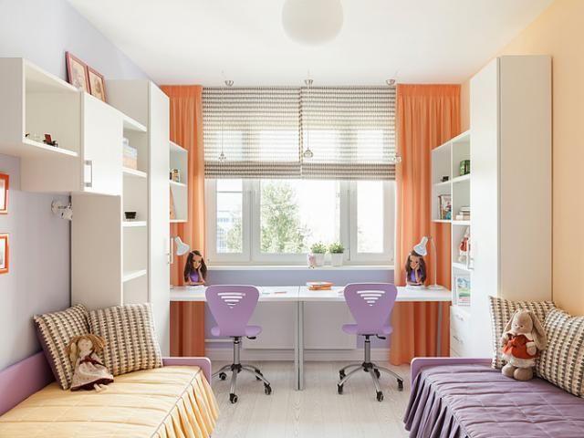 Картинки по запросу интерьер детской комнаты для двоих детей фото 13 м2