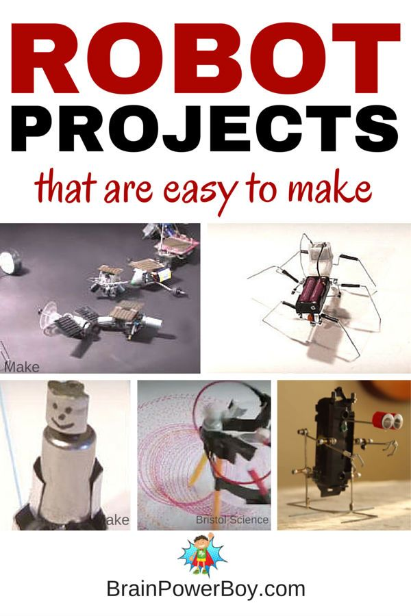 Make Your Own Robot! 9 awesome, easy to make robots that are so much fun to make. Videos included. Click picture to see robots and instructions.