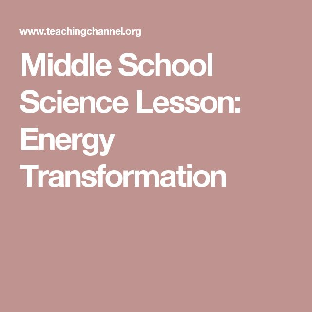 Middle School Science Lesson: Energy Transformation