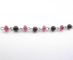Garnet & Ruby Chain (per cm)