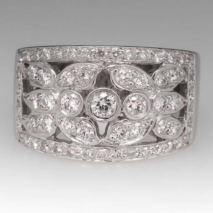 wide platinum diamond wedding bands