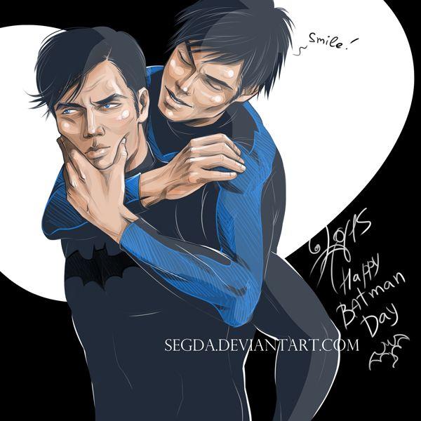 Happy Batman Day by Segda.deviantart.com on @DeviantArt #batman #nightwing #dc #brucewayne #dickgrayson