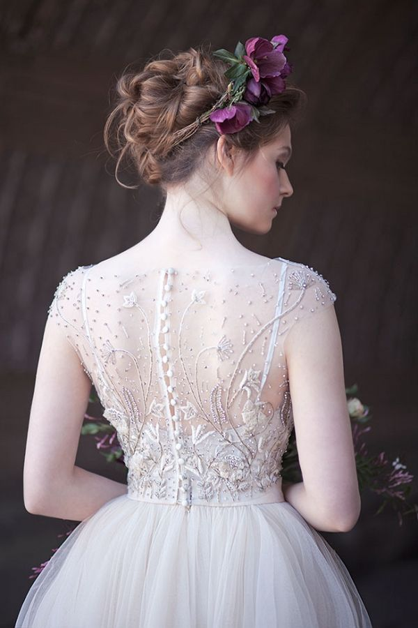 Stunning Bead Work On A Rebecca Schoneveld Wedding Dress | Claudia McDade Photography on @StorybrdWedding via @aislesociety