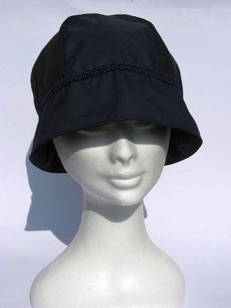 Hüte - leichter Regenhut  blau 30iger  - ein Designerstück von Janecolori bei DaWanda