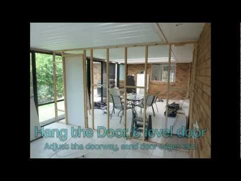 How To Divide A Room Or Build Wall Partition This IS NOT Load Bearing Its Just Simple