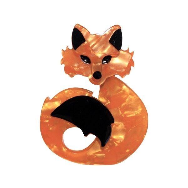She's So Foxy Amber Brooch by Erstwilder