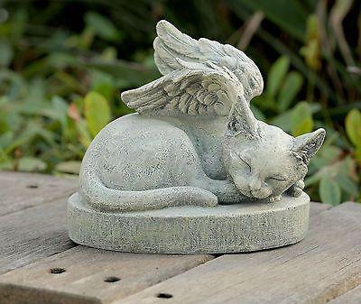 Cat-Angel-Pet-Memorial-Stone-Grave-Marker-Headstone