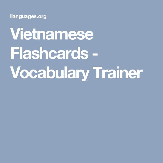 Vietnamese Flashcards - Vocabulary Trainer