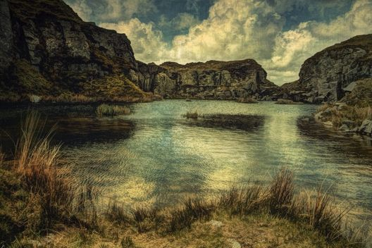 Foggintor Quarry, Dartmoor by Sarah Jarrett