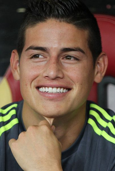 James Rodriguez Photos Photos - James Rodriguez of Real Madrid reacts on the bench during the match of International Champions Cup China 2015 between Real Madrid and FC Internazionale at Tianhe Stadium on July 27, 2015 in Guangzhou, China. - FC Internazionale v Real Madrid - International Champions Cup