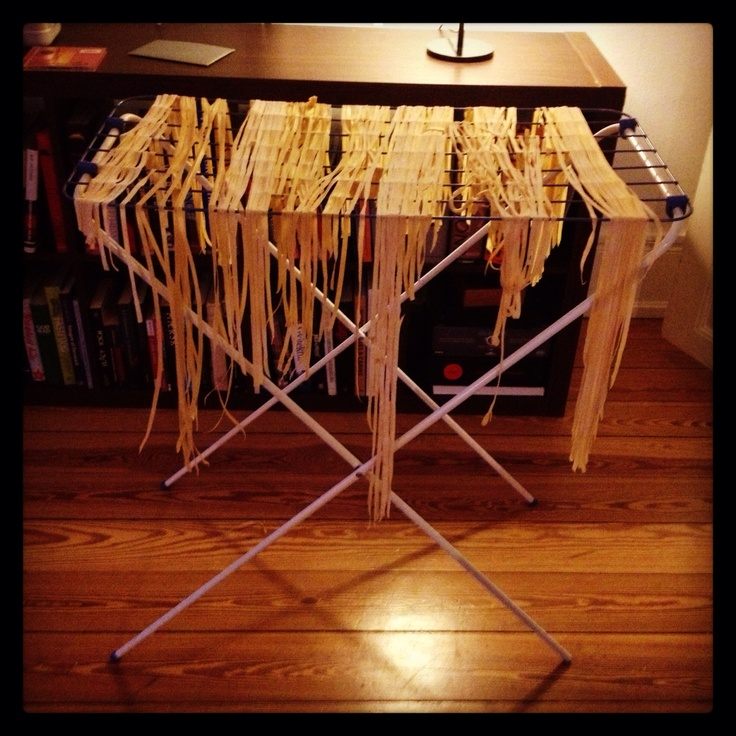 Drying home made pasta