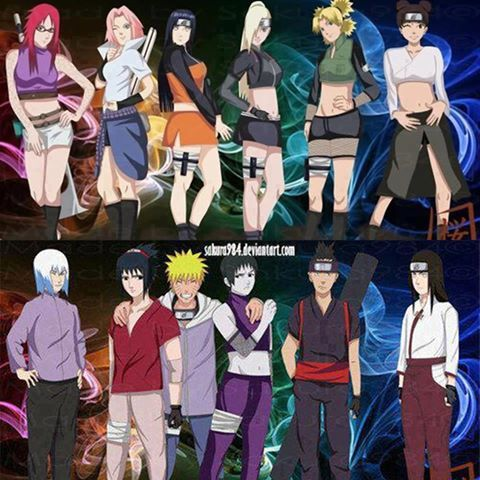 Main girls and boys clothes swap LOL! (If this is a couples thing, I'm ok with all but Suigetsu x Karin)