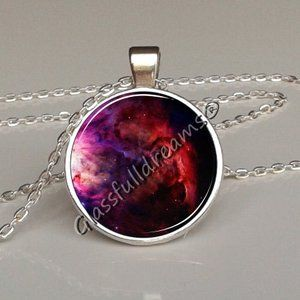 Galaxy Orion Nebula necklace, Outer space jewelry Outer space necklace Glassfulldreams jewelry Glassfulldreams handmade jewelry,Made in uk,Astronomy Space jewelry Science Best gifts for space lovers