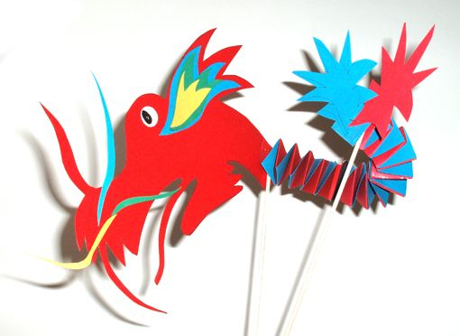 Bricolage pour fabriquer une marionnette dragon chinois (chinese new year)
