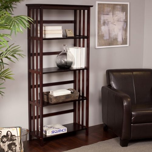 Mission-style bookcase that blends with any decor.