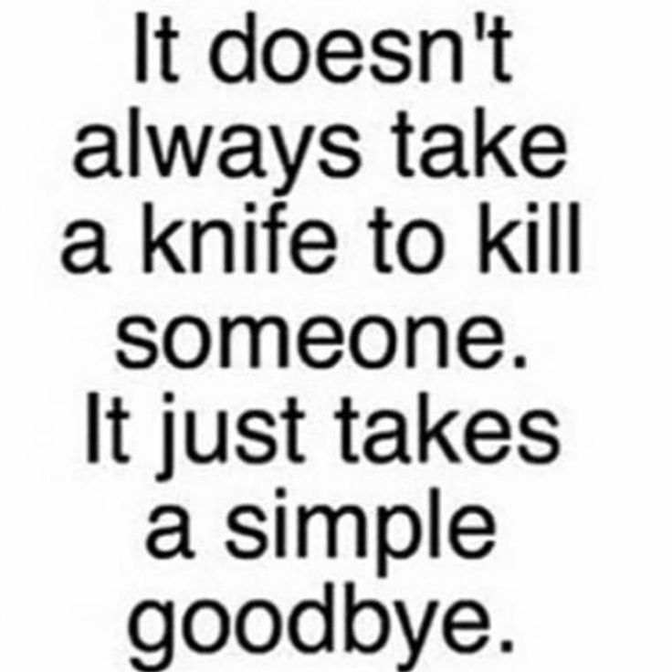 a simple goodbye.