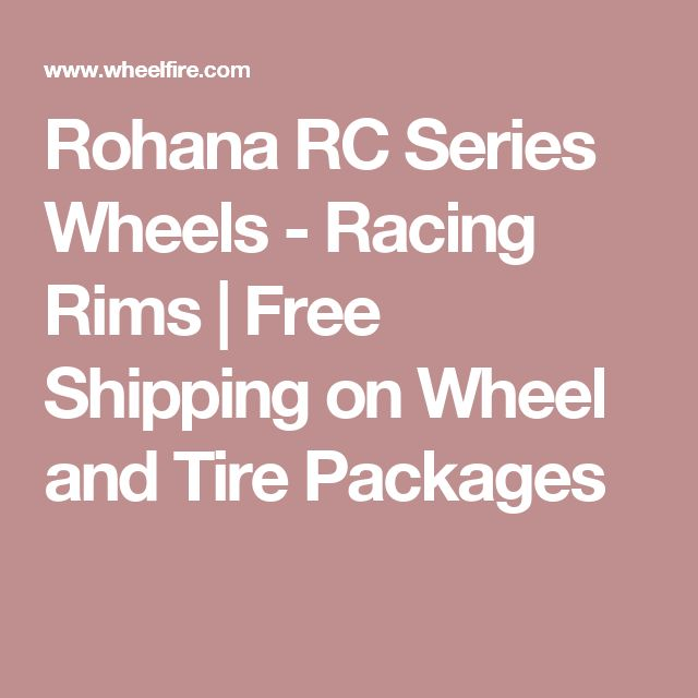 Rohana RC Series Wheels - Racing Rims | Free Shipping on Wheel and Tire Packages