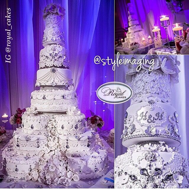 Nigerian wedding: Extravagant & luxurious wedding cakes by Royal cakes