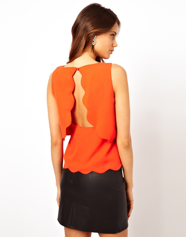 Scallop Top with Open Back