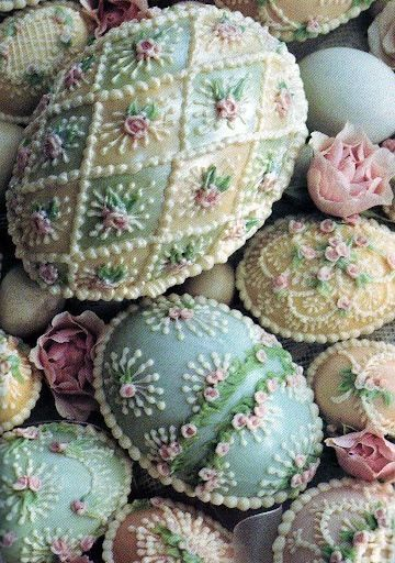 Lovely Decorated Easter Eggs