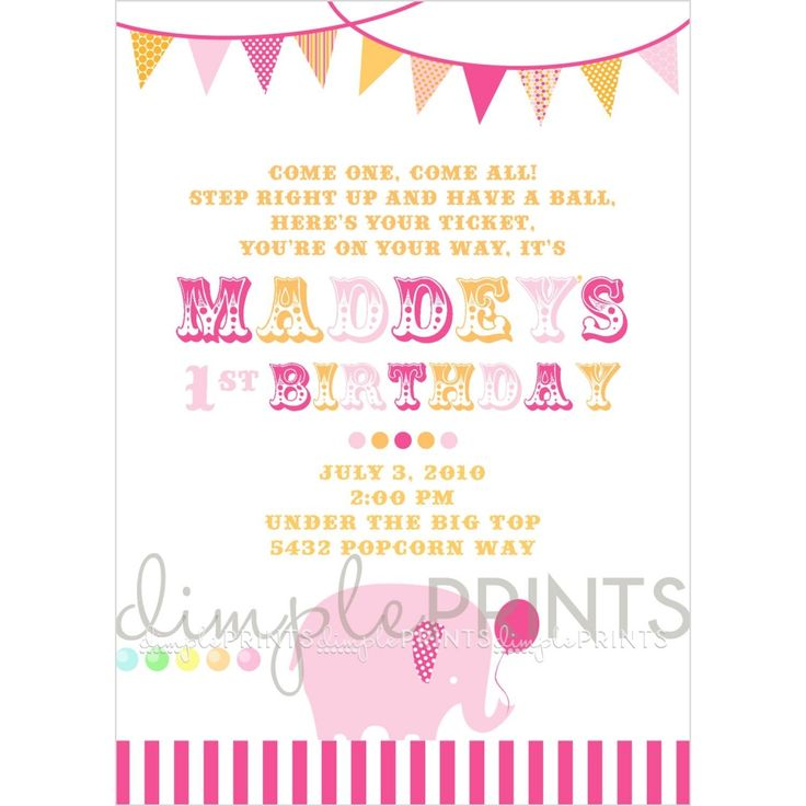 113 best Free Printable Invitations images on Pinterest Birthdays - best of invitation for 1st birthday party free