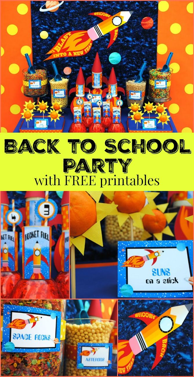 BLAST Back to School Party with FREE Printables!! So much fun!