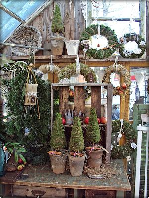 Like the small trees in clay pots with cinnamon sticks