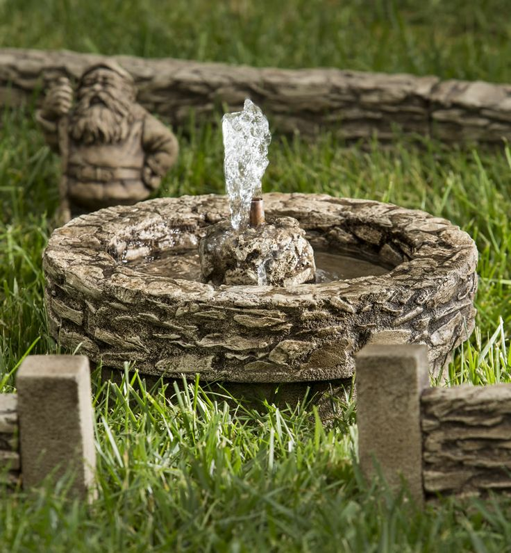 134 best fairy garden bird bath fountain ponds images for Best pond fountains