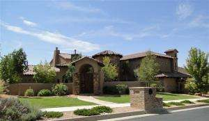 Exquisite Tuscan estate nestled in Sauvignon on the golf course.  This one of a kind home leaves nothing to be desired.  Superb golf course with amazing views.  Second to none outdoor living with pool, spa, outdoor fireplace and multiple level sitting areas.  Custom touches include barreled hallways, heavy timber trusses, 35 foot ceilings, home theater, variance throughout, Canterra stone fireplaces, and so much more.  If you are looking to enjoy the finer things in life, look no further.