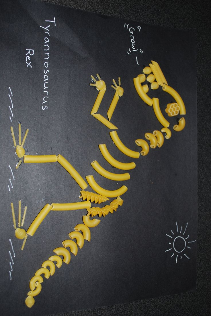 dinosaur pasta skeleton craft - Google Search