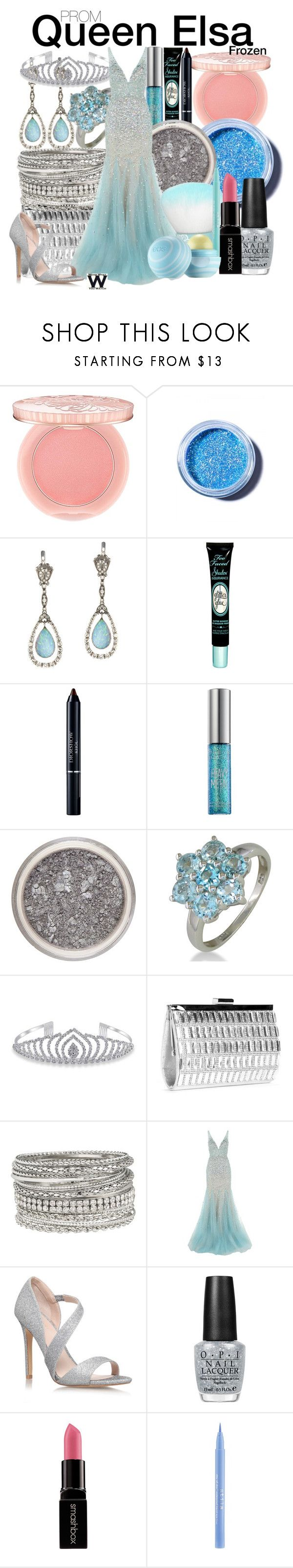 """Frozen"" by wearwhatyouwatch ❤ liked on Polyvore featuring Paul & Joe, Lime Crime, Queensbee, Too Faced Cosmetics, Christian Dior, Urban Decay, Bling Jewelry, maurices, Jovani and Carvela Kurt Geiger"