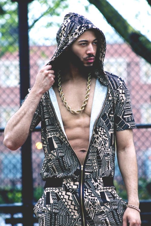 """chasemodelsny: """"Russell Lewis ( Chase Models Management ) For @cultureandfate (jump suite ) Photographer @vincechaseimages """" Awesome shots of one of our jumpsuit with @chasemodelsny"""