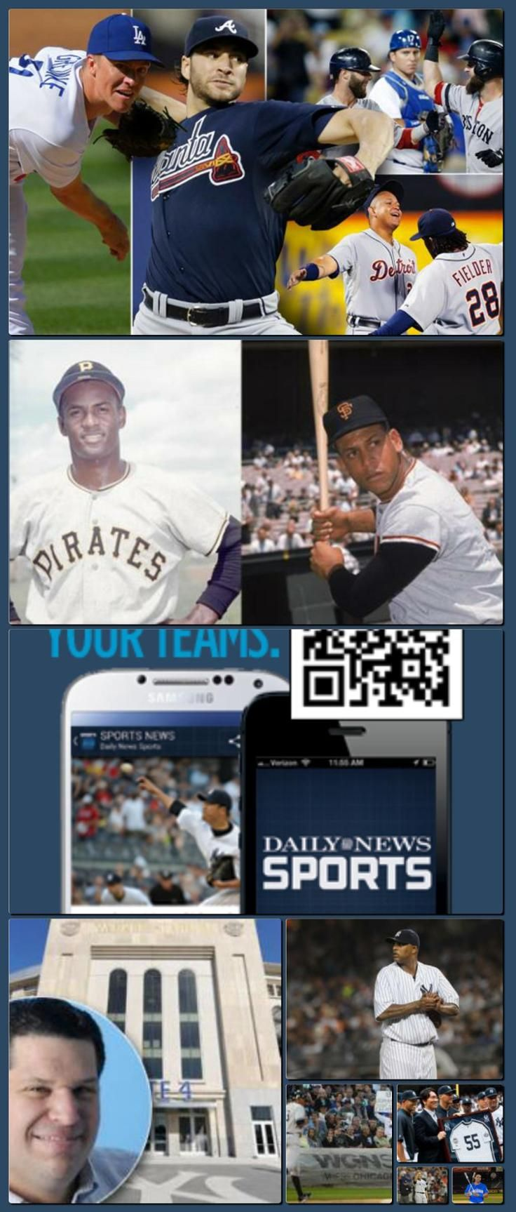 New York Baseball, Yankees, Mets, Stats, Photos and Stories - Homepage - NY Daily News [Collage made with one click using http://pagecollage.com] #pagecollage