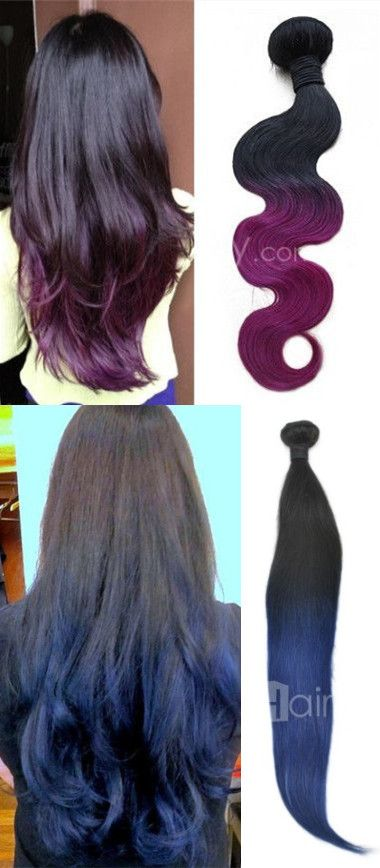 Color your hair, color your life. Purple ombre and blue ombre is the trend. Hair extension you should try now!!