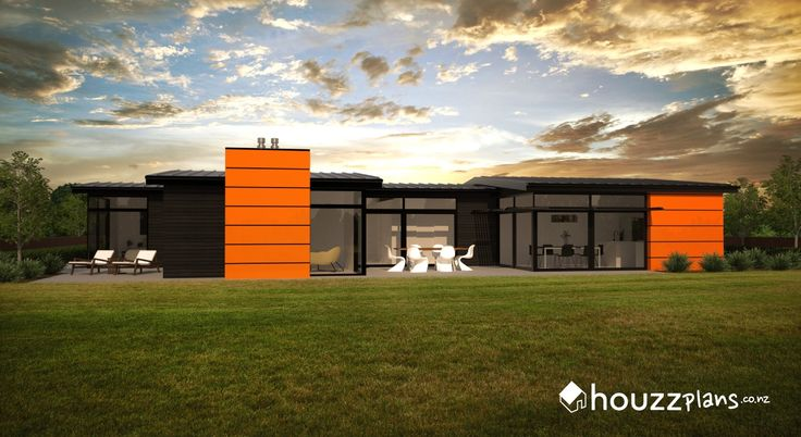 Shelby - Modern Contemporary House Plan .... Browse all house plans here: www.houzzplans.co.nz