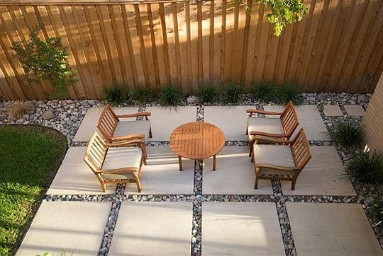 Patio with Pavers Small Backyard Ideas