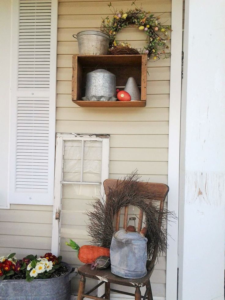 My Cute Spring Front Porch Loving The Wooden Crates