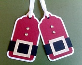 Santa tag scrapbook embellishment...will be doing these with my Cricut this year :)