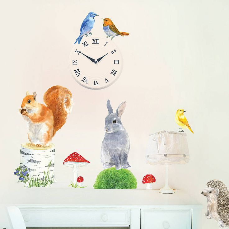 woodland animals wall stickers size small by chocovenyl | notonthehighstreet.com