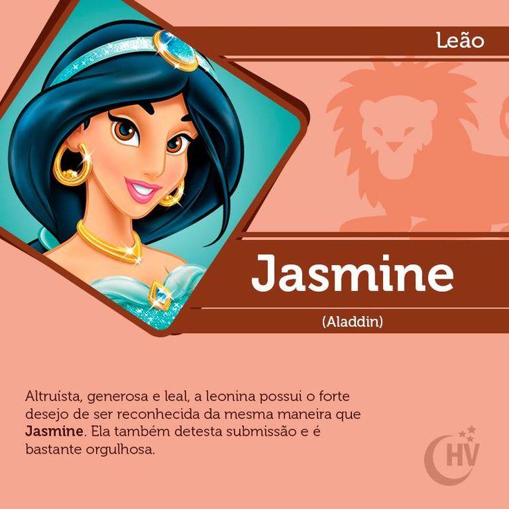 Princesa de Leão. #horóscopovirtual #princesas #signos #Jasmine #leão #Aladdin