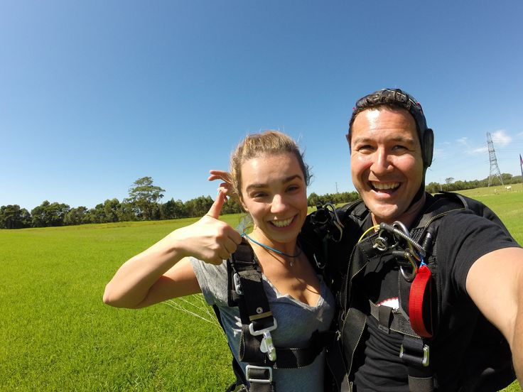 There's nothing more thrilling than skydiving on a beautiful day… Just ask these two! #SkydiveAustralia #tandemskydiving #skydive #adrenaline #adventure