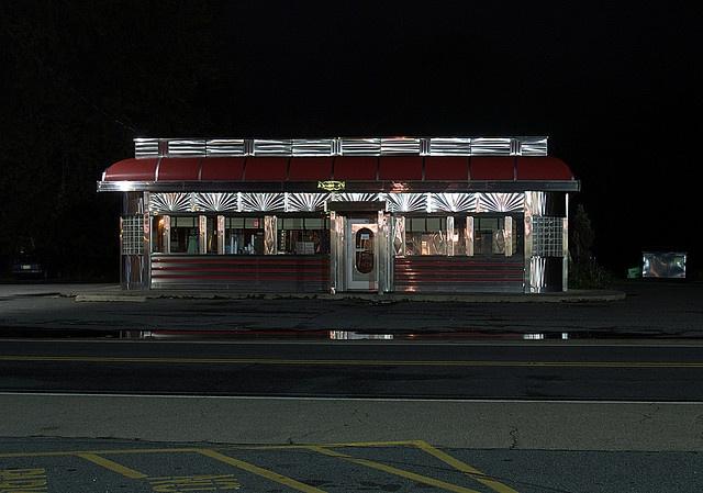 Images Via Here Here Here: Diner After Dark (Blairstown, NJ) By Takomabibelot, Via