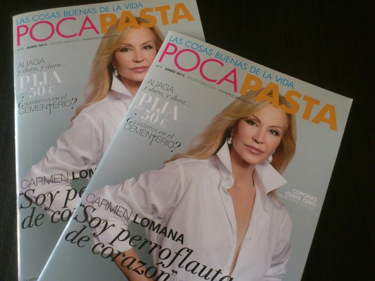 La portada de la revista PocaPasta del mes de junio, con Carmen Lomana en portada