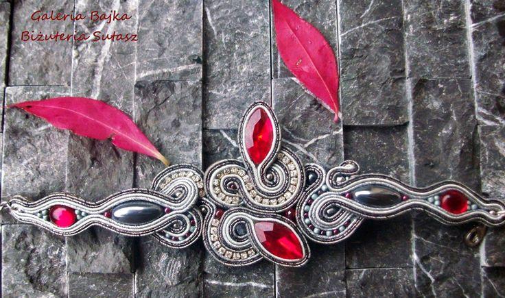 "Bransoletka sutasz (soutache)  ""Red Leaves"" w Galeria Bajka Soutache Jewelry na DaWanda.com"