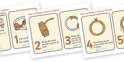 Native American resources -- how to make a dreamcatcher (pdf or cards)