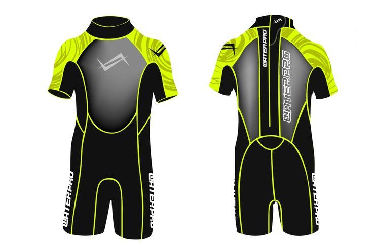 Water Pro WPK Kid Wetsuits 3mm Neoprene Unisex Swimming Suit Snorkeling Wear Scuba Diving Water Sports