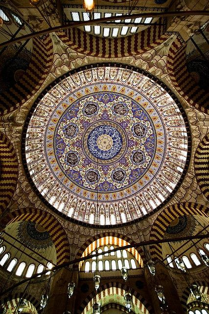 One of the domes in Hagia Sophia, Istanbul. Picture by Veruschka.