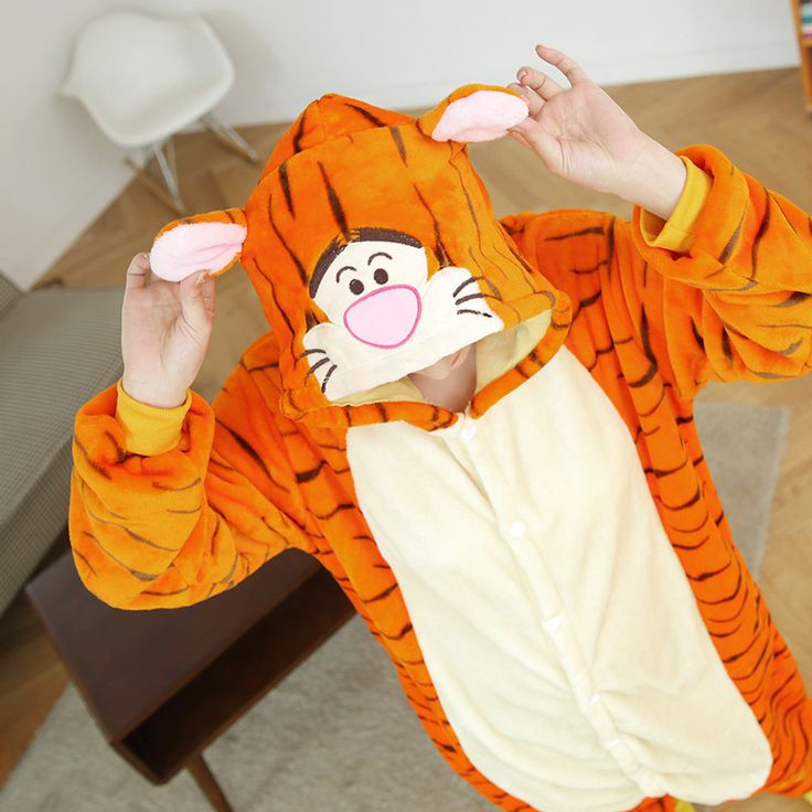 Cheap pajama flannel, Buy Quality cute onesie pajamas directly from China pyjama cute Suppliers: Wedtrend Cute Tiger Onesies Adults Flannel Pajamas Animal Costumes Adult Cute Cartoon Animal Sleepwear Nightgowns Unisex Pyjamas